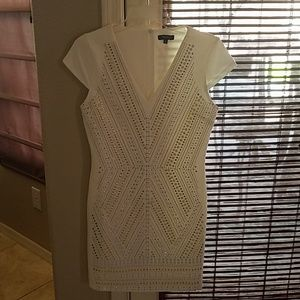White Dress with beaded rivets NWOT